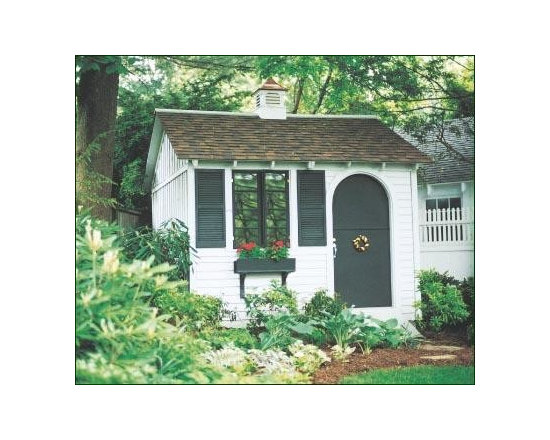 10' x 10' Get-Away - Step through the doorway and you are in your own world where you have the solitude to pursue your favorite hobby or leisure activity. This gem features clapboard siding on the front as well as Board and batten siding on other three sides.