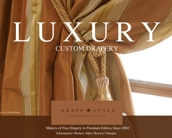 DrapeStyle - 2013 Catalog - When you are looking for the highest quality custom curtains, drapery and pillows consider DrapeStyle.  For over a decade DrapeStyle has been manufacturing premium custom curtains and drapes for Designers and Homeowners throughout the US and Canada.