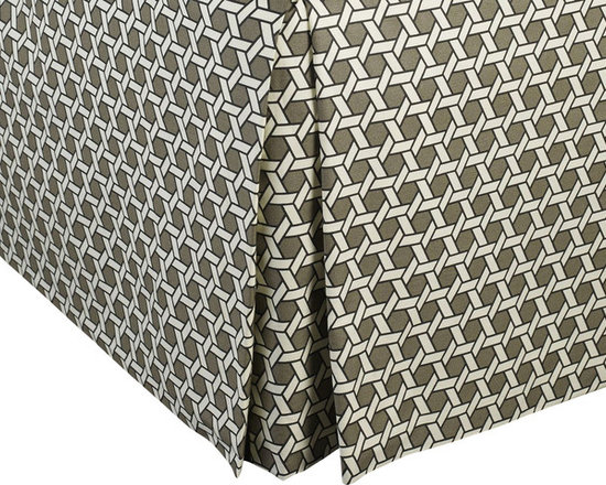 """Mystic Valley Traders Shangri-la - Bed Skirt - The Shangri-la bed skirt is fashioned from the Oasis fabric; it is lined and tailored with a 16"""" drop."""