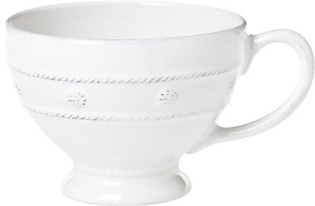 Juliska Berry and Thread Breakfast Cup Whitewash transitional-mugs