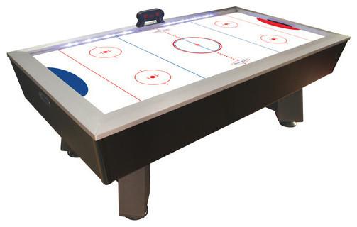 """90"""" Lighted Rail Air Hockey Table modern-bar-tables"""