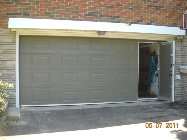 Classic Raised Panel Walkthru Garage Doors