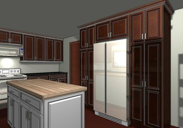 Custom Kitchen Cabinetry 3D Rendering Cabinets Design & Ideas traditional
