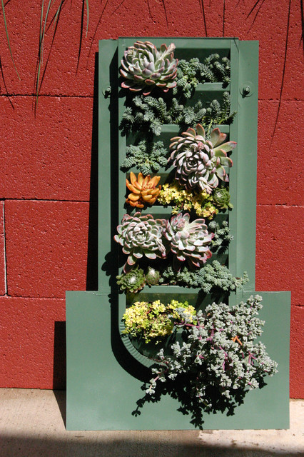 Succulent Wall for Del Mar Home Garden Show 2012 eclectic-outdoor