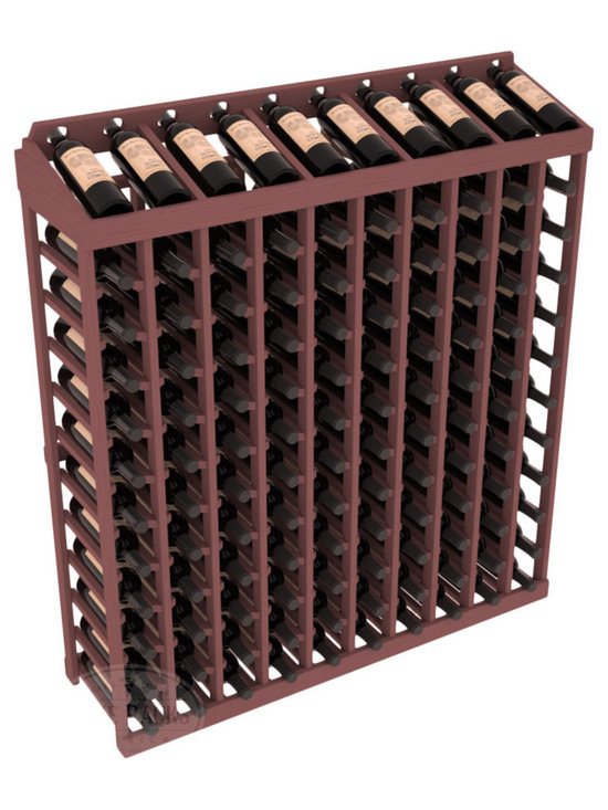 Wine Racks America® - Commercial Wine Rack RetailEDGE™ Standard Base with Display Top, Walnut Stain - Our Standard Base with Display Top holds up to 120 bottles, giving your retail wine rack the display it needs to help customers shop with ease. With the solid Ponderosa pine option, 13 beautiful stain & finish combination choices, this retail wine rack kit is the perfect display storage solution for your retail store. Increase your bottom line today with RetailEDGE Series ™.