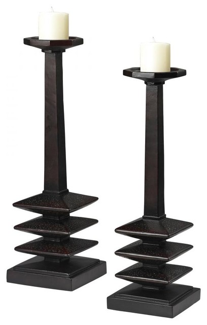 Mid-Century Inspired Candle Holders traditional-candleholders