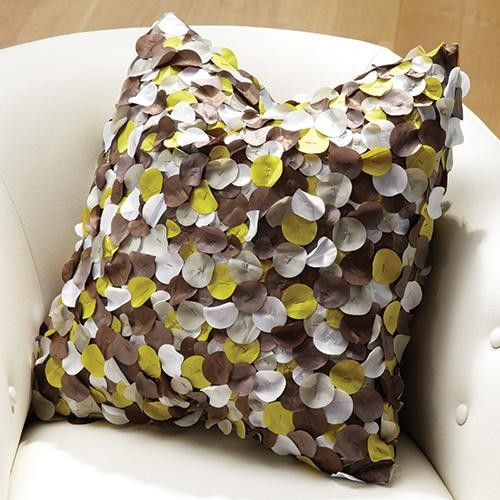 Global Views Lichen Pillow in Grey and Citron traditional-decorative-pillows