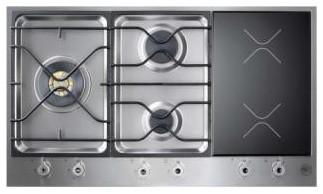 "Bertazzoni 36"" Design Series Segmented Cooktop, Stainless Steel | PM363I0X cooktops"