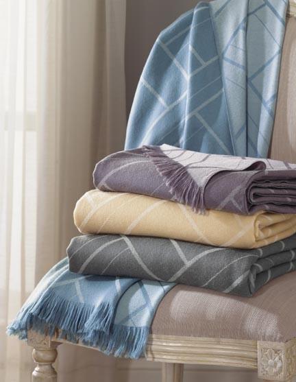 Sferra Como Wool Throw Blanket | Gracious Style throws