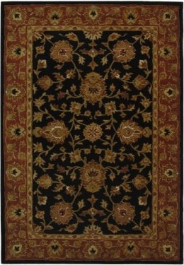 Safavieh Heritage HG112A Area Rug - Black/Red modern-rugs