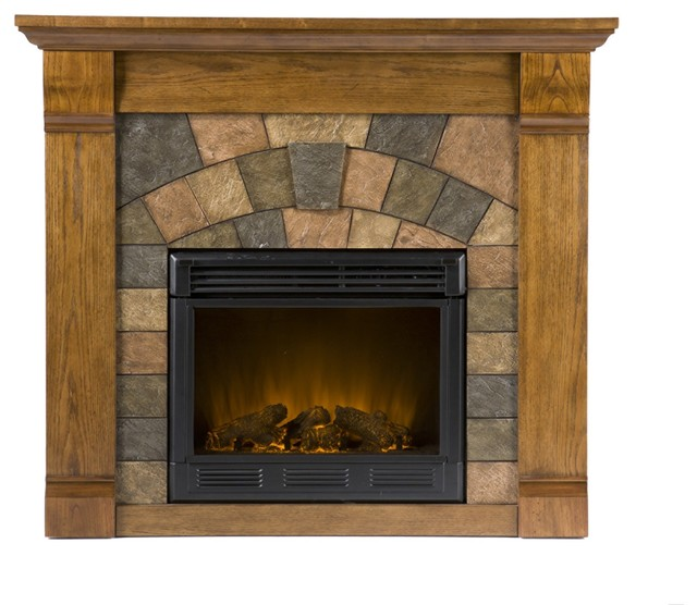 underwood electric fireplace antique oak rustic indoor fireplaces