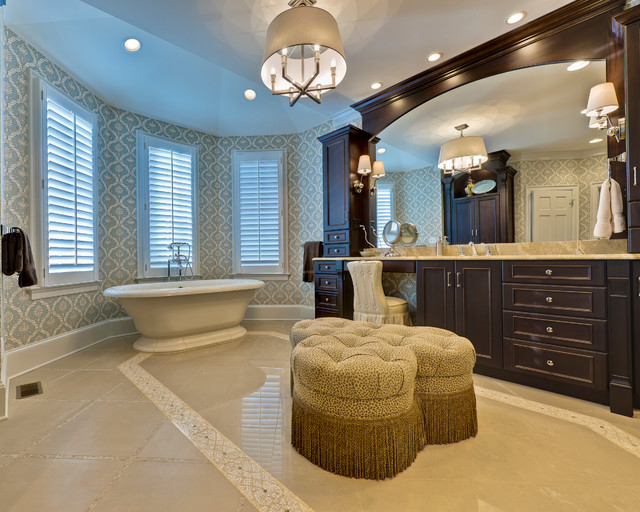 Master Bed & Bath Retreat:  Enjoy the Good Life traditional bathroom