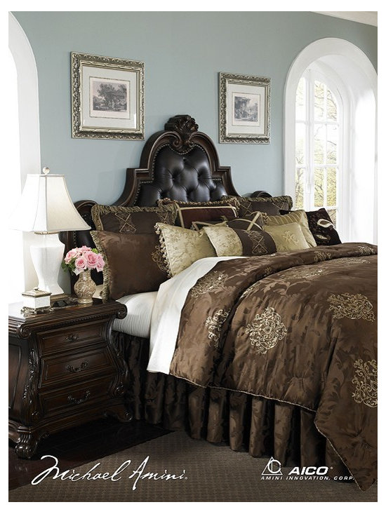 AICO Furniture - Highgate Manor Luxury Bedding Sets - 51240803 - Exclusive Michael Amini Series Design from AICO