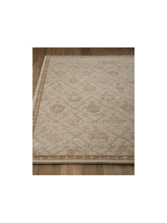 "Horchow - ""Miranda"" Rug - With its intricate floral lattice pattern, this regal rug sets a new standard in quality and beauty that rivals the world's finest heirloom rugs. It makes an elegant centerpiece for any room. Handmade of New Zealand wool. Exquisitely hand carved with...."