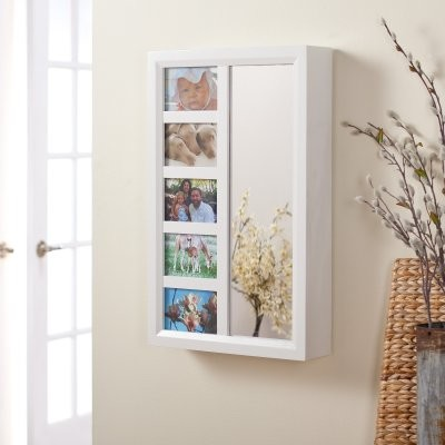 Photo Frames Wall Mount Jewelry Armoire Mirror - High Gloss White - Modern - Furniture - by ...