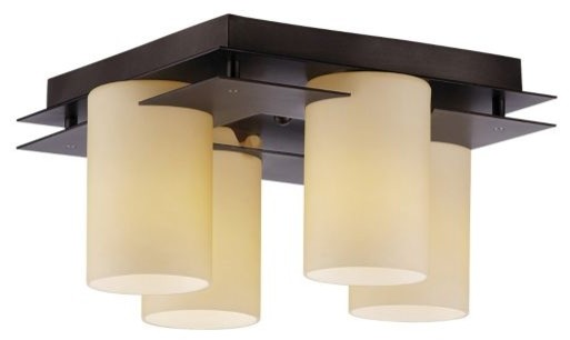 Ingo 4-Light Flushmount by Philips Forecast Lighting contemporary-ceiling-lighting