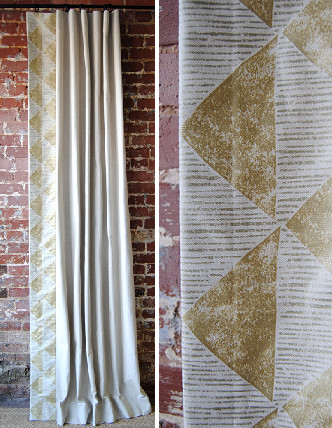 Gilt Triangles Panel curtains