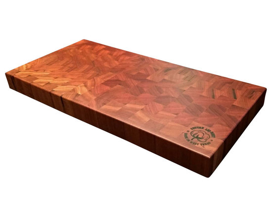 Cotton and Dust Products of West Texas - The Kathy Cutting Board - The Kathy is one of our top sellers. This end grain cutting board is not only guaranteed to be a conversation starter in your kitchen, but also provide you with years of trouble free service and stunning reliability.