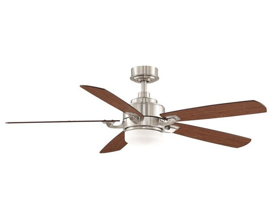 """Fanimation - Fanimation FP8003BN Brushed Nickel with Cherry / Walnut Blades Benito - Features:Includes 5 Reversible Cherry / Walnut Wood BladesIncludes Removable Light Kit with Opal Frosted GlassIncludes Remote with 3 Speeds Forward / ReverseSturdy Solid Wood Blades will Provide a Lifetime of BeautyCovered Under Lifetime WarrantyShow off unique simplicity with the Benito 52"""" Indoor Ceiling Fan by FanimationFixture Cap Included for When Light is Not in UseDownrod(s) Included for Ease of InstallationSuitable for Dry LocationBlade Specifications:Number of Blades: 5Blade Span: 52""""Blades Included: YesBlade Pitch: 13 Degrees (The Angle of Attack of the Blades; Steeper Blades Move More Air)Light Kit Specifications:Light Kit Included: YesLight Kit Compatible: YesNumber of Bulbs: 1Bulb Type: Halogen MinicanWatts Per Bulb: 100Bulb Included: YesLight Direction: Down LightingAir Flow Specifications:Motor Size: 172mm x 20mmSpeeds: 3CFM (High): 3 (The Volume of Air Moved by the Fan in Cubic Feet Per Minute)Airflow Efficiency: 80 (Cubic Feet Per Watt on High (Volume of Air Moved Per Watt of Energy Used)Other Product Specifications:Control Type: Remote (included)Overall Height: 16.53"""" (The Distance from the Bottom of the Fixture to the Ceiling)Downrod(s) Included: YesDownrod Size(s): 4.5""""Voltage: 110Optional Accessories (Sold Separately):C25 Wall ControlCCK8002 Close to Ceiling KitSCK1-52 Sloped Ceiling KitDR1 Downrod"""