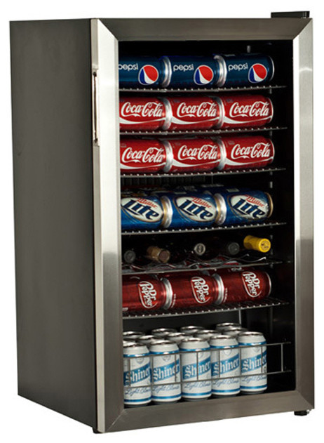 EdgeStar Stainless Steel 103-can Beverage Cooler contemporary-wine-and-bar-tools