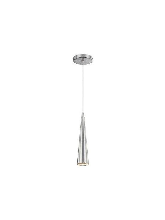 Eurofase Sliver with Satin Nickel Modern Mini Pendant Light -