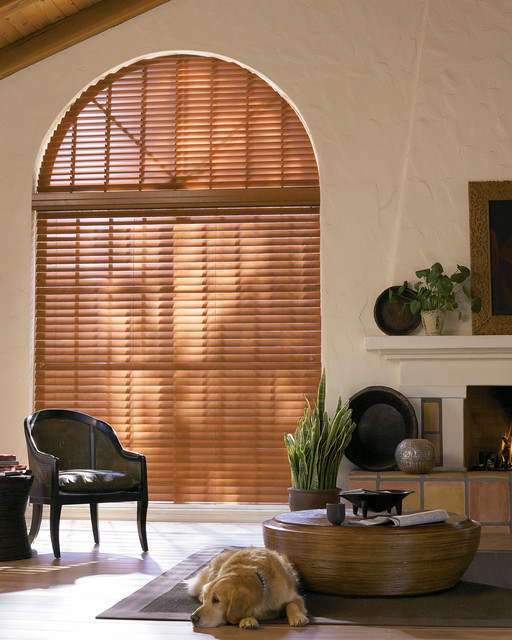 Parkland Woods® Reflections® blinds with Cordlock eclectic-window-blinds