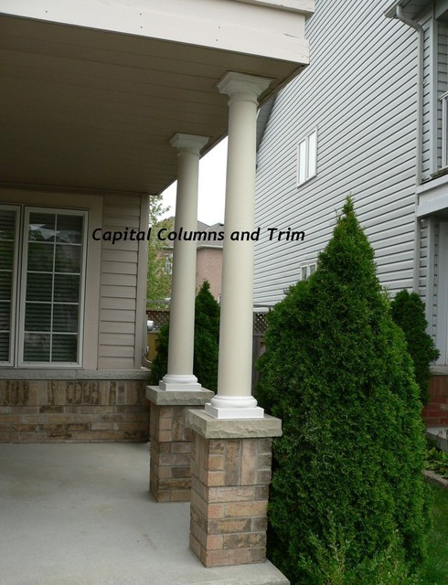 Round fiberglass column replacement for Round porch columns