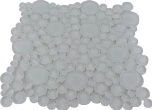 Loft Super White Circles Glass Tiles contemporary-tile
