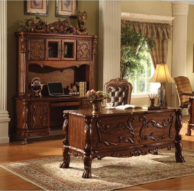 Traditional Home Office Desk Furniture Wood