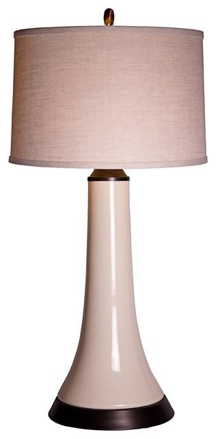 Contemporary Thumprints Frangelica Bone Crackle White Table Lamp contemporary-table-lamps