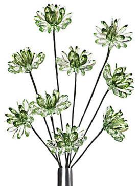 Crystal Flower Stems - Green Set of 3 modern-plants