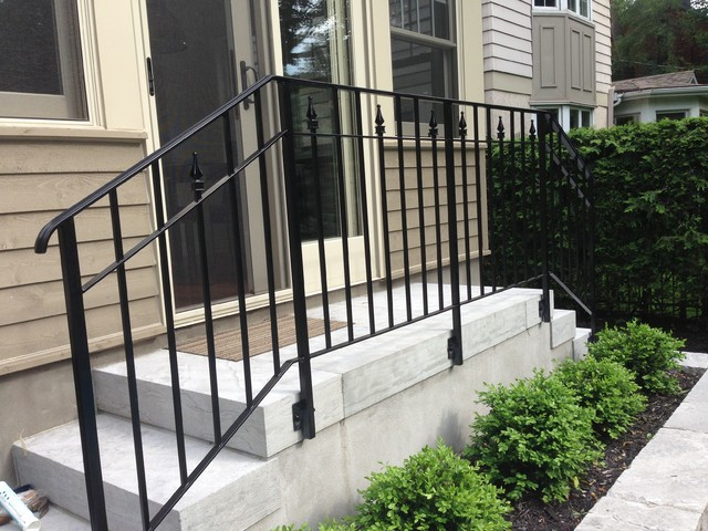 Exterior: Metal Railing traditional-entry