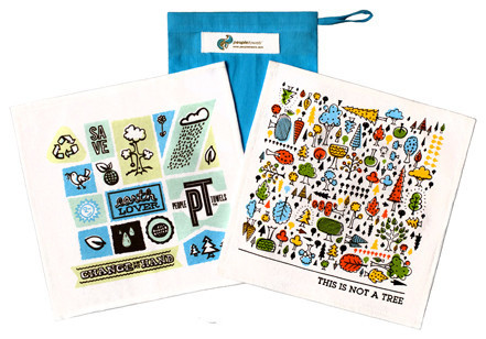 PeopleTowels 2 Day Supply, Trees Set contemporary-dish-towels