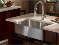 KOHLER Verity Apron-Front Stainless Steel Kitchen Sink K-3086-NA contemporary-kitchen-sinks