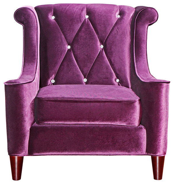 Armen Living Barrister Purple Chair - Eclectic - Armchairs And Accent Chairs - by purehome