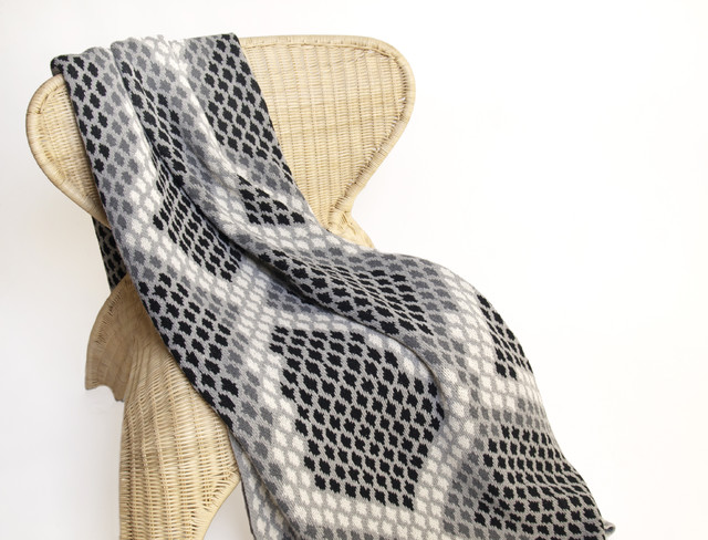 Snake Cushion Knitting Pattern : Snakeskin Knit Throw - Eclectic - Throws - new york - by In2green
