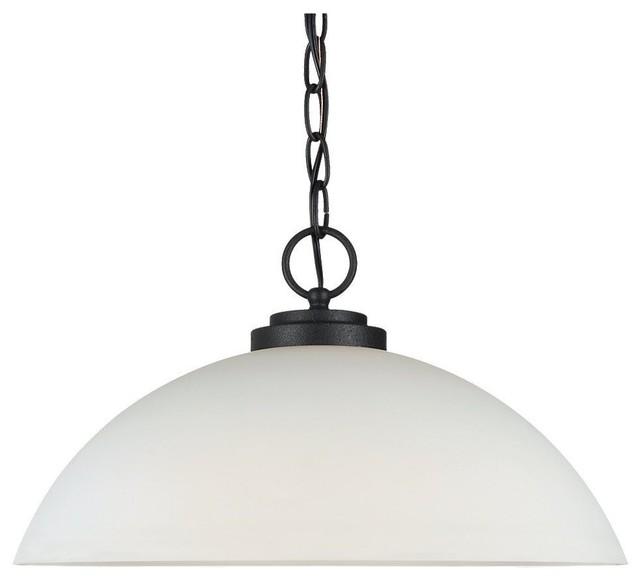 Seagull Oslo Unique Pendant Light Fixture In Blacksmith