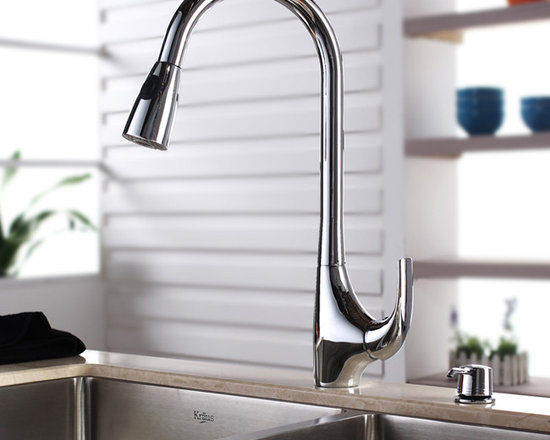 "Kraus Single Lever Pull Out Kitchen Faucet Chrome KPF-1621 - APPLY COUPON CODE ""EDHOUZ20"" AT CHECKOUT. JUST OUR WAY OF SAYING THANKS."