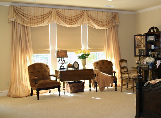 Master Bedroom Window Treatments Traditional Window Treatments Dallas By Sally J Designs
