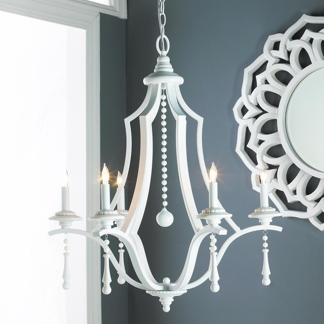 Slick White Transitional Chandelier chandeliers