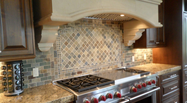 Slate Kitchen Backsplash traditional kitchen tile