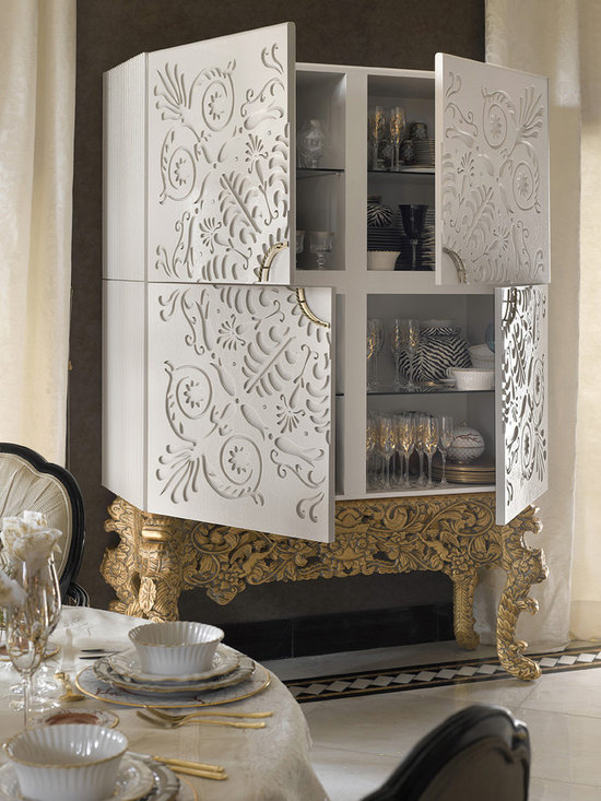 Alexandra bar cabinet_open doors - Designed and manufactured by Coleccion Alexandra.