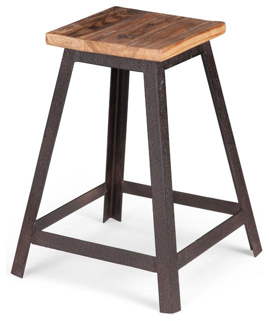Leland Stool Distressed Natural Rustic Bar Stools And  : rustic bar stools and counter stools from houzz.com size 538 x 640 jpeg 61kB