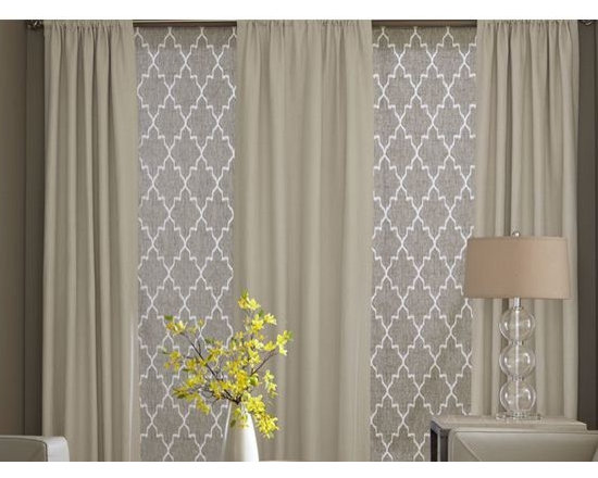 Living Room- Roman Blinds & Curtains -