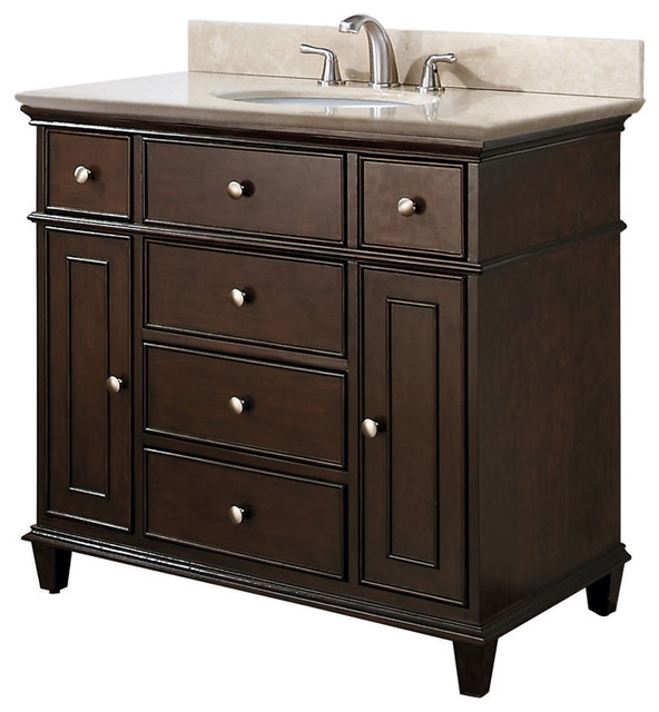 Single Sink Vanities - traditional - bathroom vanities and sink