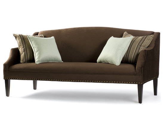 Stanwyck Sofa - A truly classic sofa with a clean seat and back, Stanwyck evokes images of a by-gone era. A great living room sofa with a traditional look, dress it up with two pillows or give it a more sumptuous feel by layering it with multiple pillows. Always tidy, this sofa shown in a rich chocolate brown microfiber is graceful and elegant in any space.
