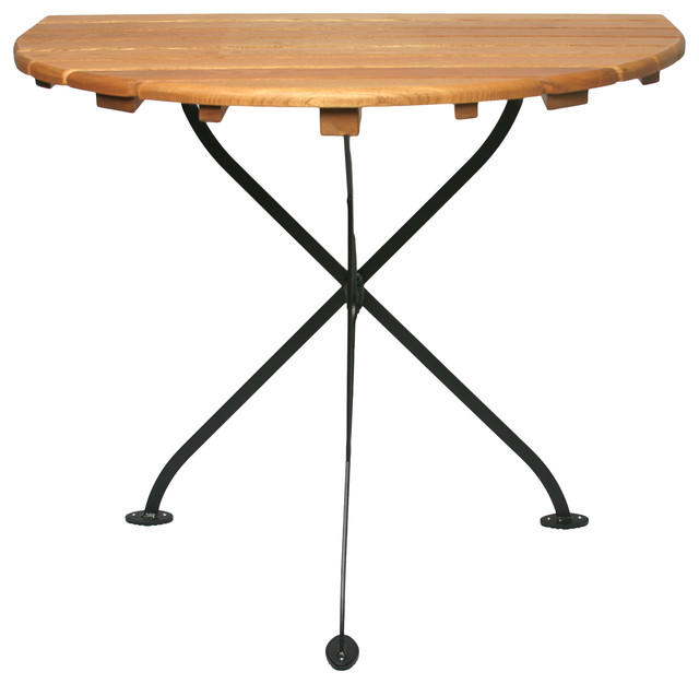 Haste Garden Rebecca Half Round Table traditional-outdoor-dining-tables