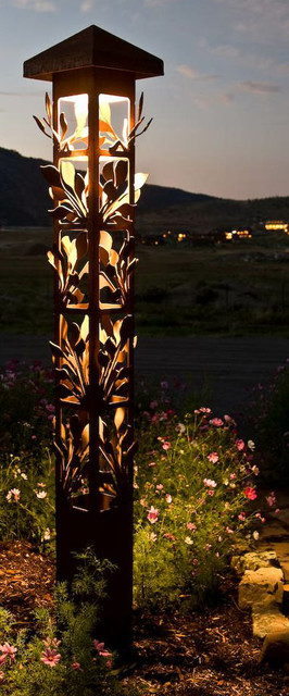 Http Www Houzz Com Photos 3270379 Decorative Steel Bollard Lights Contemporary Outdoor Lighting Indianapolis