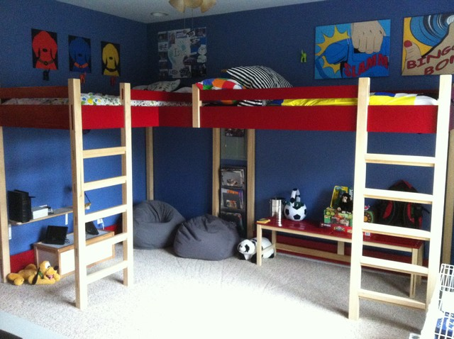 Double loft bed modern kids beds louisville Futon for kids room