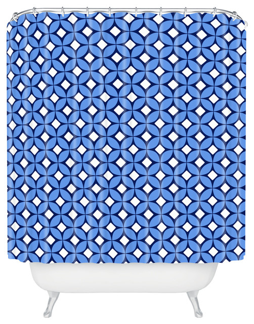 Caroline Okun Blueberry Shower Curtain contemporary-shower-curtains